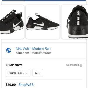 Nike Ashin Modern Run black/white sz 10